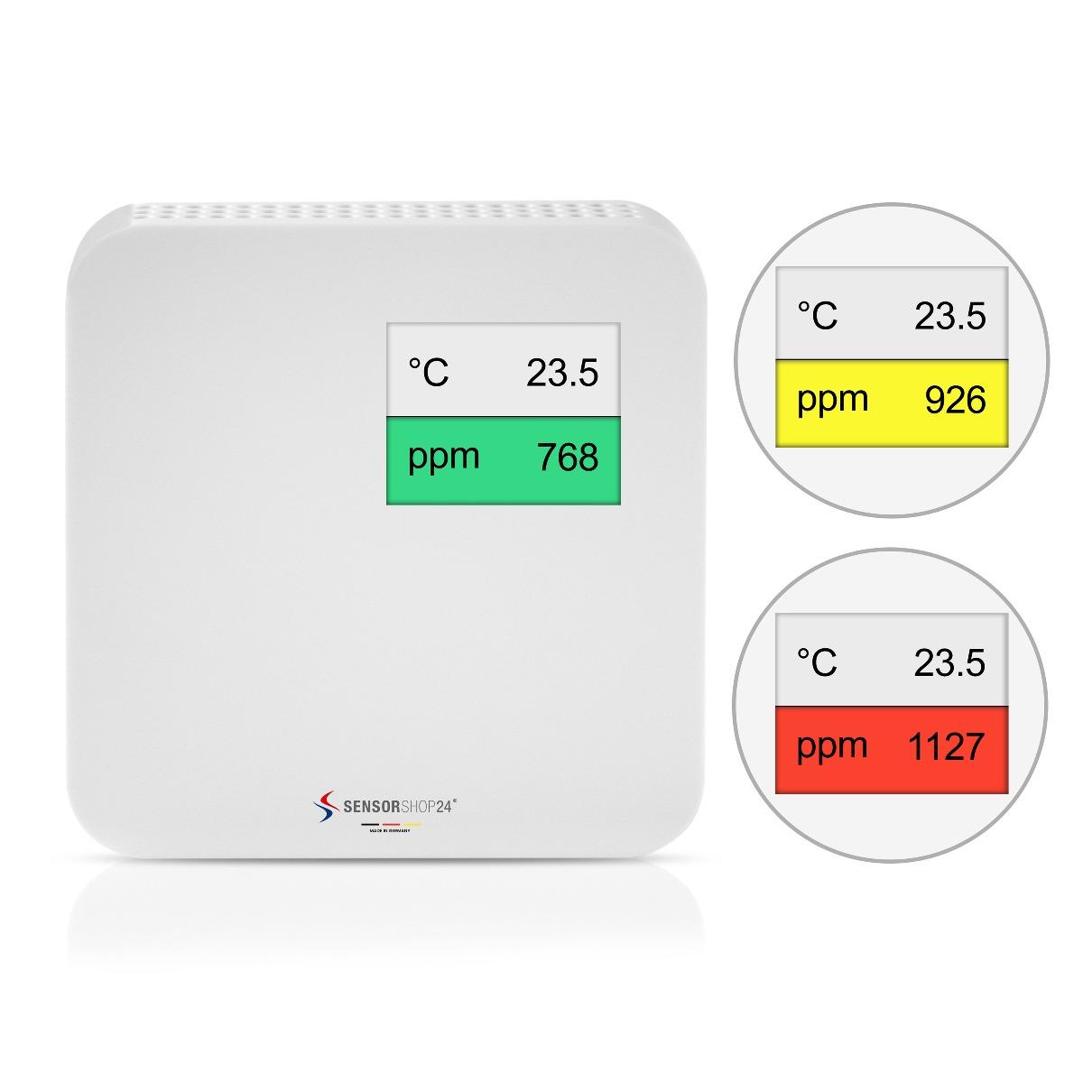 Luftqualitätsmonitor mit Ampel zur Messung von CO2 und Temperatur
