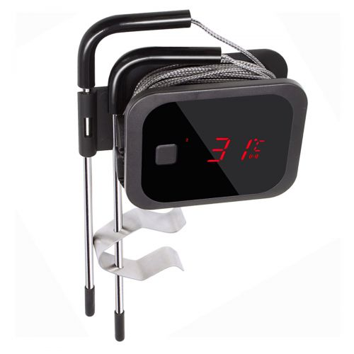 Bluetooth 4.0 BBQ Kochthermometer mit Temperaturalarm, inkl. 2 Sonden + BBQ GO APP