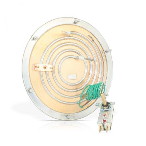 Einkreis-Heizboden mit Temperaturregler Ø196mm mit 1800Watt - 28.06013.200