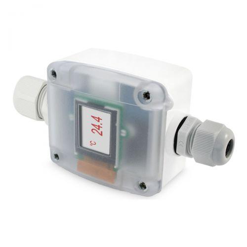 Messumformer im Außenfühlergehäuse für PT1000 mit zweiter Kabelausführung (0‑10V/4‑20mA)