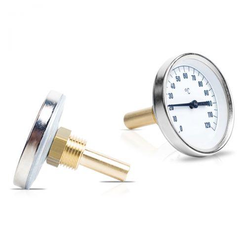 """Bimetall-Einschraubthermometer mit Tauchhülse G1/2"""" Messing"""