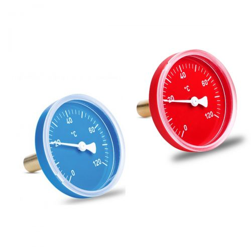 """Bimetall-Einschraubthermometer (Kunststoff) mit Messing Tauchhülse G1/2"""""""