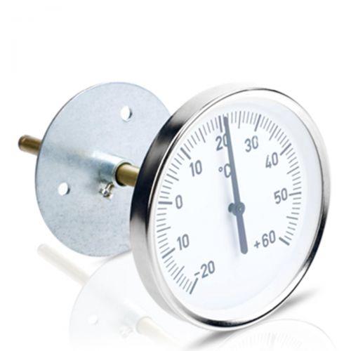 Bimetall-Luftkanalthermometer mit verschiebbarem Flansch