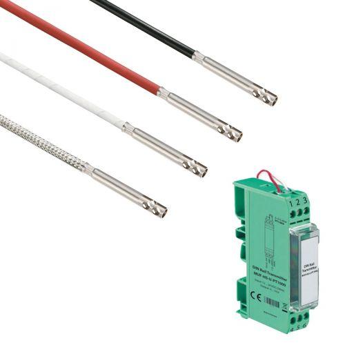 Norm- bzw. Hutschienen-Messumformer mit Lufttemperaturfühler (0‑10V/4‑20mA)