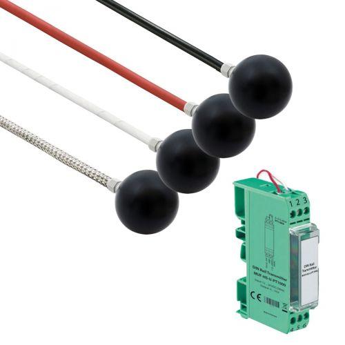 Norm- bzw. Hutschienen-Messumformer mit Strahlungsfühler (0‑10V/4‑20mA)