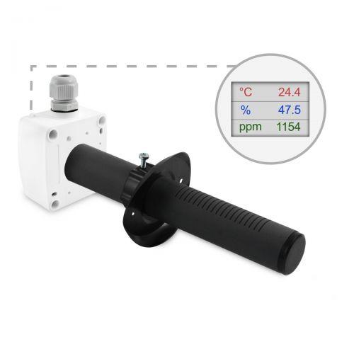 Kanalfühler zur Messung von CO2, Temperatur und Feuchte (0-10V/4-20mA)