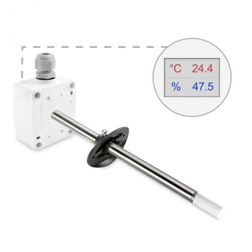 Kanalkombifühler für Temperatur und Feuchte (0-10V/4-20mA)