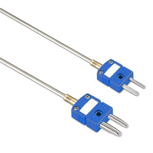 Mantelthermoelement FeCu-Ni Typ L bis 800°C mit Miniatur- oder Standardstecker