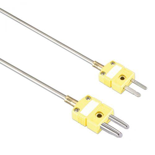 Mantelthermoelement Typ K bis 1150°C mit Miniatur- oder Standardstecker