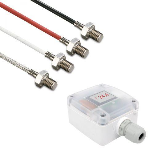 Messumformer mit Einschraubfühler M8x10 Gewinde PVC-Leitung |0-10V/4-20mA