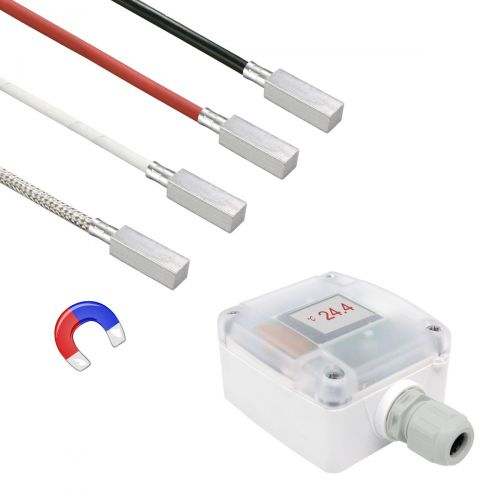 Messumformer mit Anlegefühler mit magnetischem Anlegeklotz (0‑10V/4‑20mA)