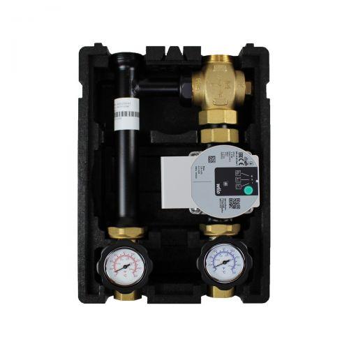 005 |  Rücklaufanhebung mit Festwertthermostat 60°C mit Wilo Para STG 25/8-75 Hocheffizienzpumpe