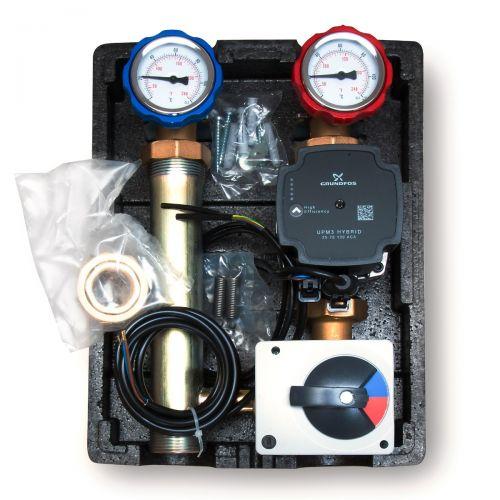 Pumpengruppe mit 3 Wege Mischer - GRUNDFOS oder WILO Pumpe