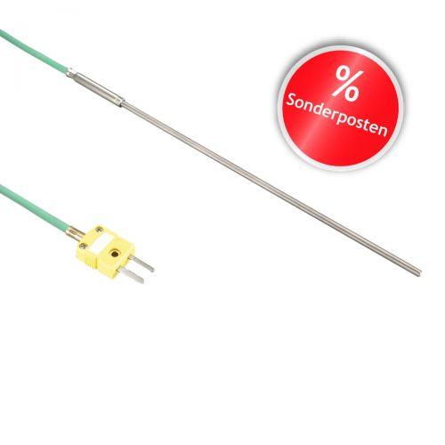 Mantelthermoelement Typ K bis 1150°C   Silikon, 3x300mm, Typ K, 3.0m, Miniaturstecker   Sonderartikel