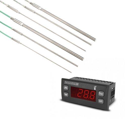 Elektronische Temperaturanzeige für Thermoelemente vom Typ K inkl. Mantelthermoelement