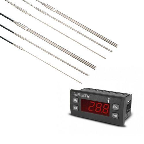 Elektronische Temperaturanzeige für Thermoelemente vom Typ J inkl. Mantelthermoelement