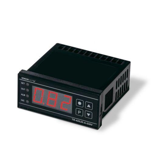 Digitaler On/Off Temperaturregler für NiCr-Ni Typ K, FeCu-Ni Typ J und 4-20mA