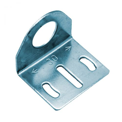 Rechtwinklige Halterung aus Metall für zylindrische M18-Sensoren