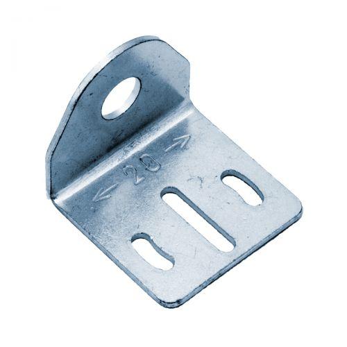 Rechtwinklige Halterung aus Metall für zylindrische M8-Sensoren