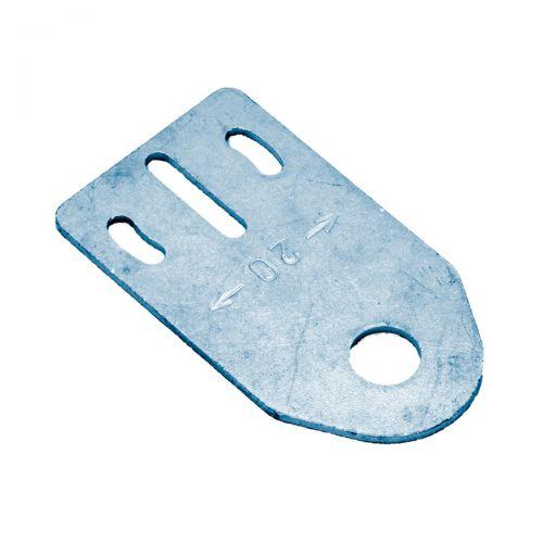 Axiale Montagehalterung aus Metall für zylindrische M8-Sensoren